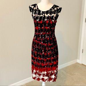 APT. 9 Sleeveless Fitted Spandex Sheath Dress, M